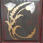 Buffet rustique, chardon à la feuille d'or - Meubles peints et articles textile - La Maison Chamarrée