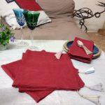 Serviettes de table lin lavé et bagatelles fantaisie - - La Maison Chamarrée