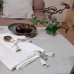Serviettes de table lin lavé et bagatelles fantaisie - Meubles peints et articles textile - La Maison Chamarrée
