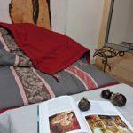 Plaid lin lavé et coutil 19ième - La Maison Chamarrée