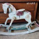 Petit cheval de bois milieu XXième avant - La Maison Chamarrée