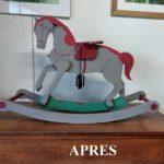 Petit cheval de bois milieu XXième après - La Maison Chamarrée