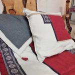 Plaid lin lavé et ruban provençal - La Maison Chamarrée