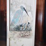 Petite bonnetière en chêne zoom peinture - meuble peint - La Maison Chamarrée