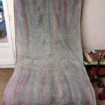 Plaid en lin peint à la main - textile - La Maison Chamarrée