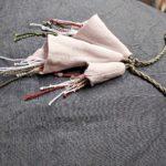 Collier lin rose - textile - La Maison Chamarrée
